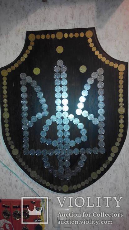 Герб Украины из монет хенд мейд, фото №2