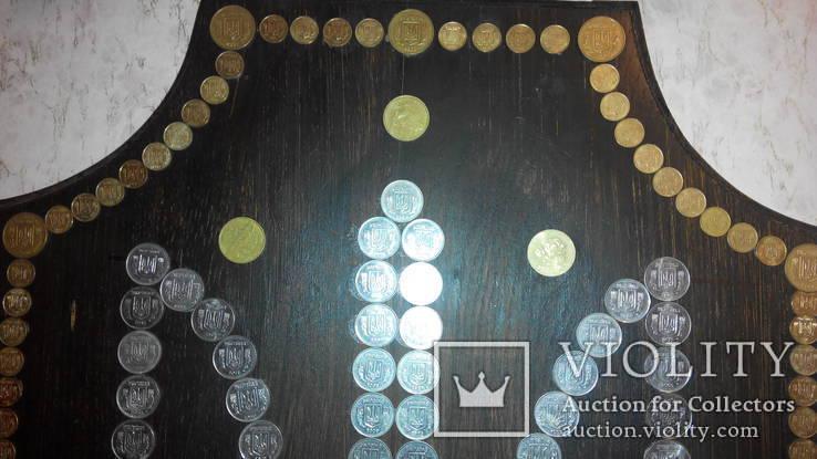 Герб Украины из монет хенд мейд, фото №5