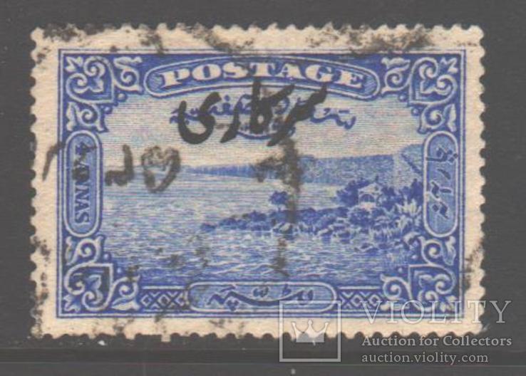 Брит. Индия. Хайдарабад. 1934. Надпечатка, 4 а., гаш.