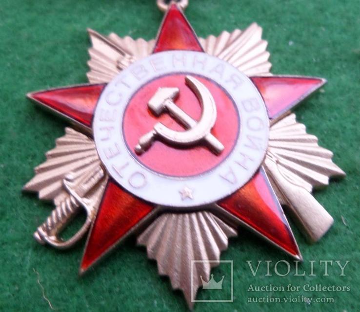 Орден Отечественной Войны 1 степени 1942-43 г. подвесной копия, фото №4