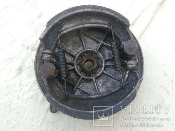 Передний тормозной барабан (опорник) с колодками Днепр МТ Урал, фото №3