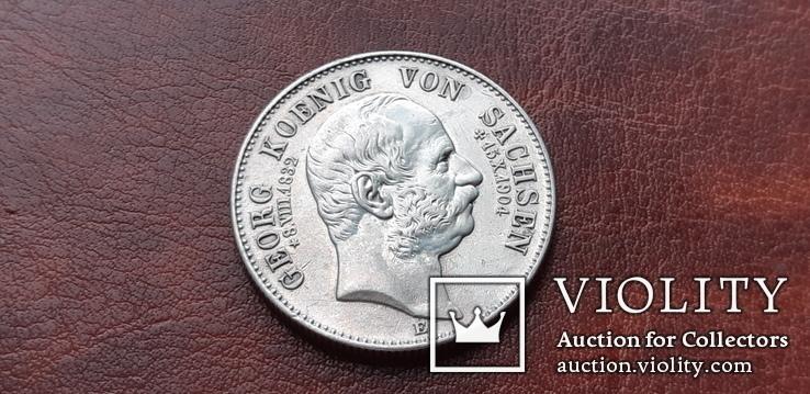 2 марки 1904 г. Саксония. Посмертные. Георг, фото №3