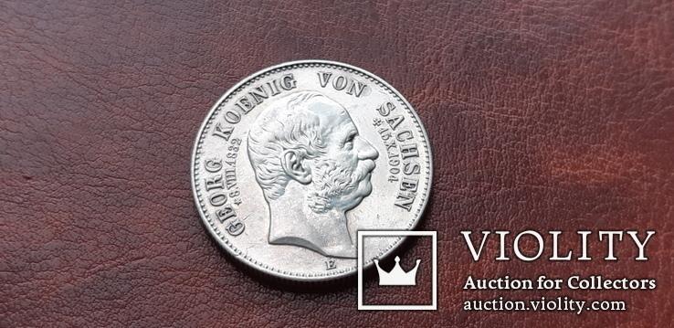 2 марки 1904 г. Саксония. Посмертные. Георг, фото №5