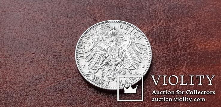 2 марки 1904 г. Саксония. Посмертные. Георг, фото №7