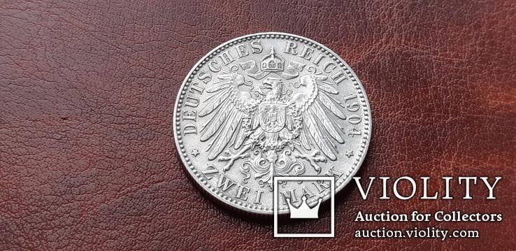 2 марки 1904 г. Саксония. Посмертные. Георг, фото №9