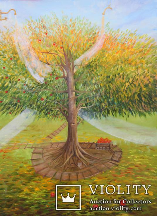 Волшебное дерево. 80х60см