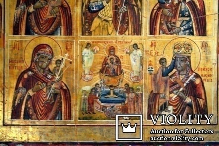 Икона - девятичастник Св.Михаил,обр.Богоматери...., фото №5
