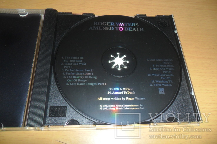 Диск CD сд Roger Waters.Amused To Death., фото №8