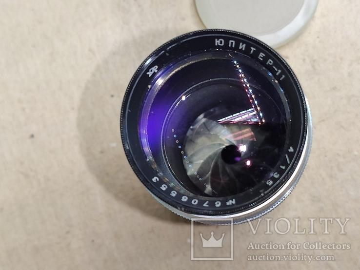 """Объектив """"Юпитер-11"""" белый с резьбовым соединением. Бакелитовые футляр., фото №4"""
