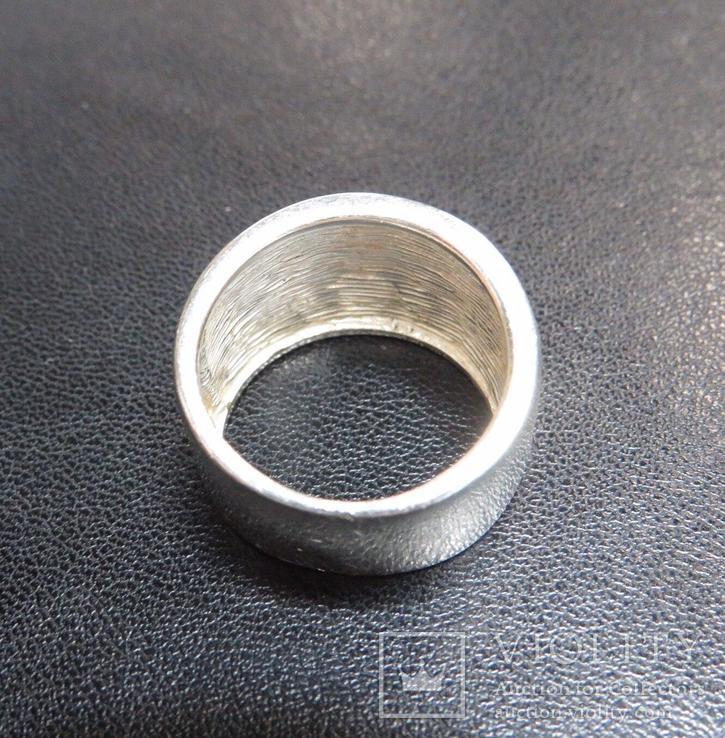 Кольцо с эмалями 17,5 размер серебро, фото №5
