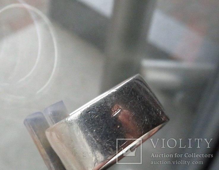 Кольцо с эмалями 17,5 размер серебро, фото №7