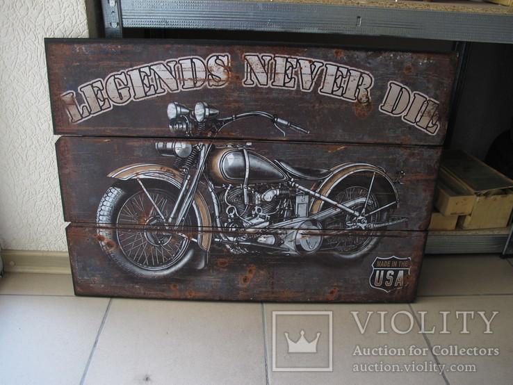 Мотоцикл Харлей Вывеска Табличка