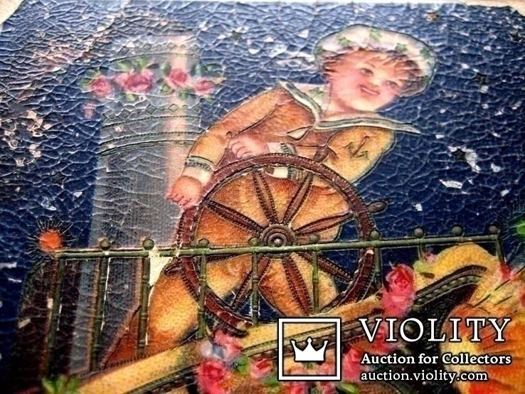 Старовинна листівка - З Новим роком 4, фото №3