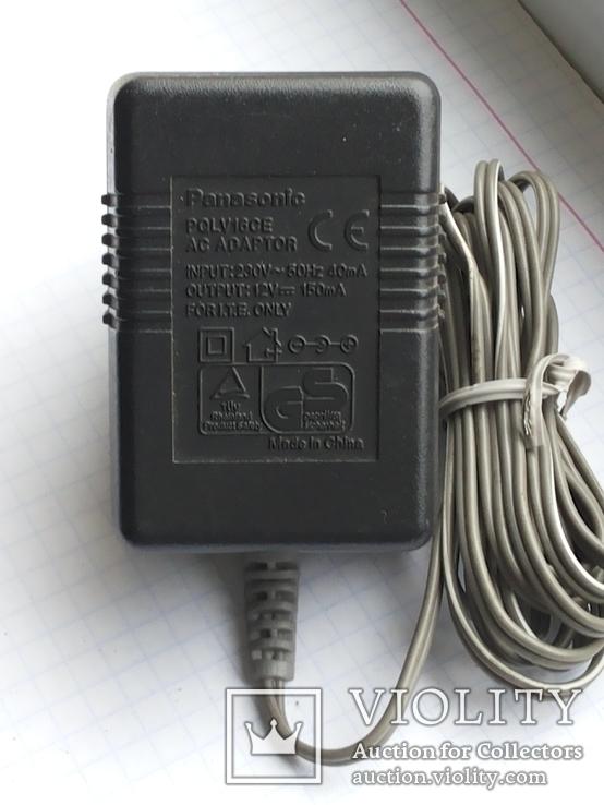 Блок питания 12V 150 mA Panasonic PQLV16CE для стацион тел 1 шт, фото №2