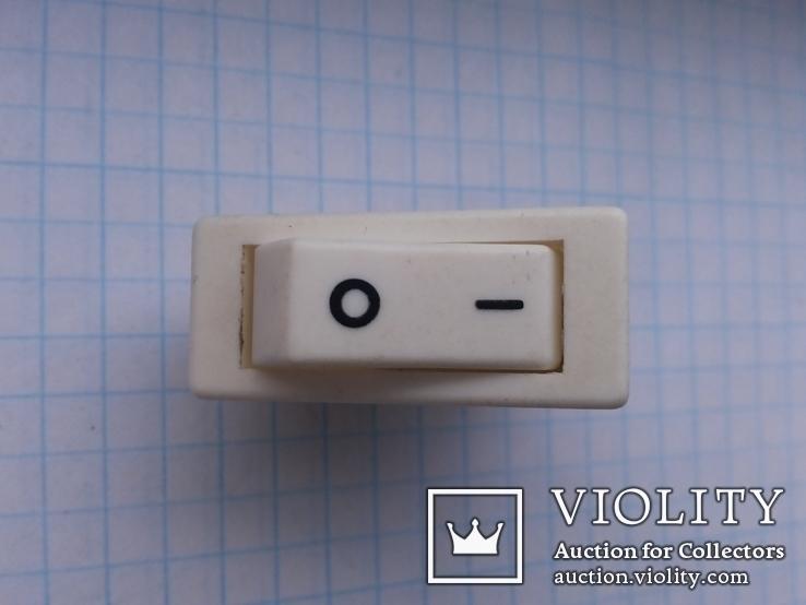 Переключатель клавишный 16A 2 pin C1500AL Arcolectric 2 шт, фото №5