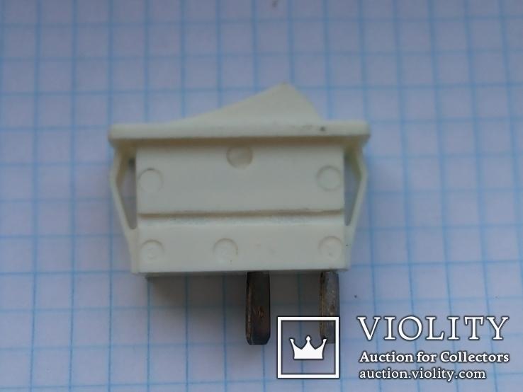 Переключатель клавишный 16A 2 pin C1500AL Arcolectric 2 шт, фото №6