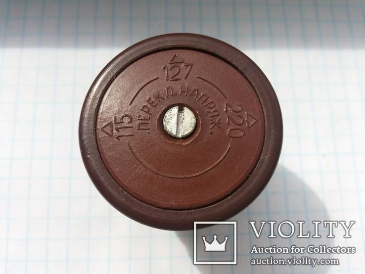 Переключатель напряжения 115V-127V-220V эбонит 1 шт, фото №2