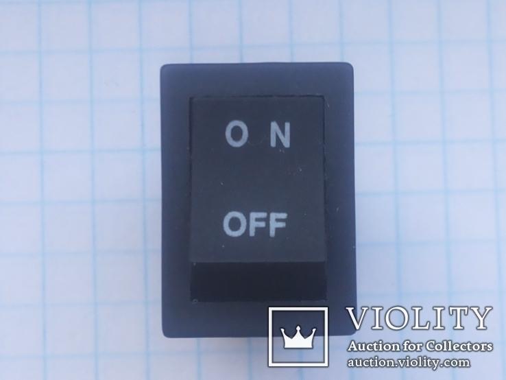 Переключатель клавишный 8A 4 pin KRB 2104 1 шт, фото №4