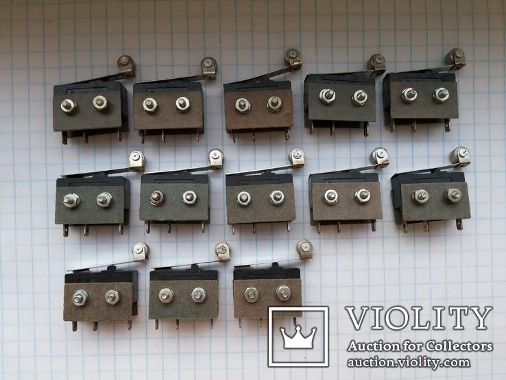 Переключатель микро 5A 250 Vac Pm2-111 ножки серебро 13 шт, фото №3