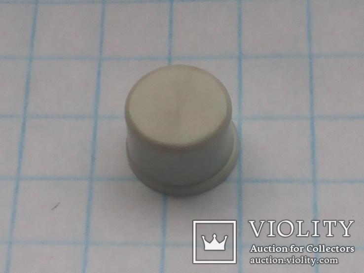 Колпачек под мирокнопку 7х3,1 серый 45 шт, фото №2