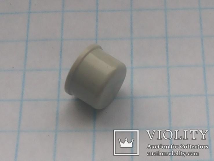 Колпачек под мирокнопку 7х3,1 серый 45 шт, фото №4