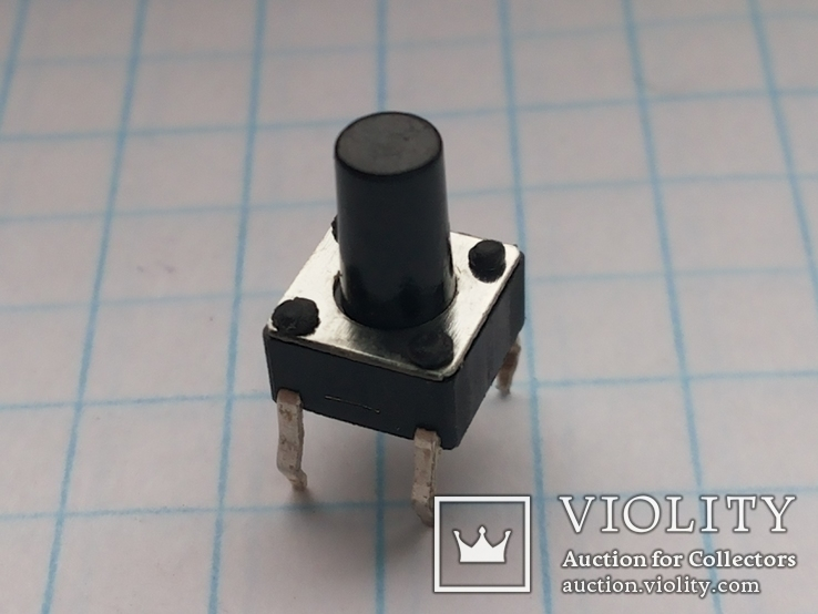 Кнопка тактовая 6х6х9 DIP 4 pin 200 шт, фото №2