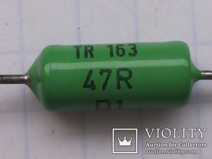 Резисторы Tesla TR 163 47R 0,5 W 52 шт, фото №2