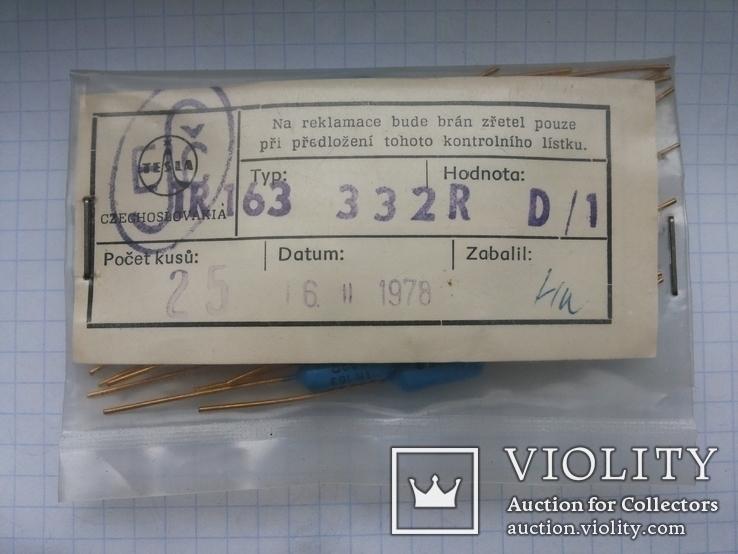 Резистор Tesla TR-163 332R 0,5W 30 шт, фото №6