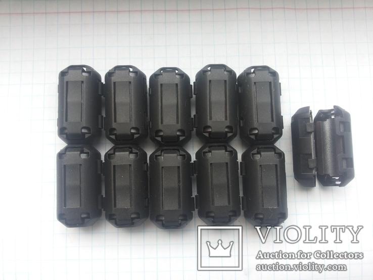 Ферритовый фильтр на кабель 7 мм ZCAT 30х16,6 мм 11 шт, фото №8