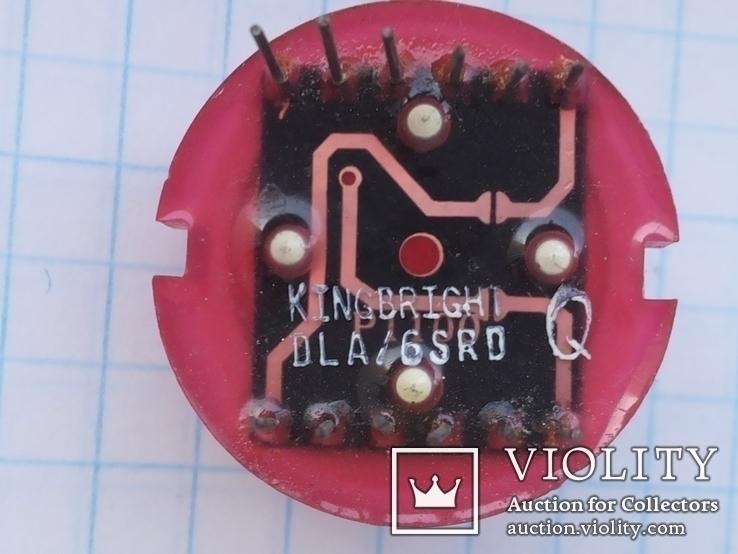 Светодиод 20 мм DLA 6SRD Kingbright 12 pin красный 1 шт, фото №3