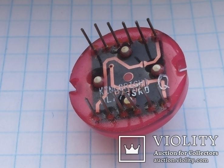 Светодиод 20 мм DLA 6SRD Kingbright 12 pin красный 1 шт, фото №4