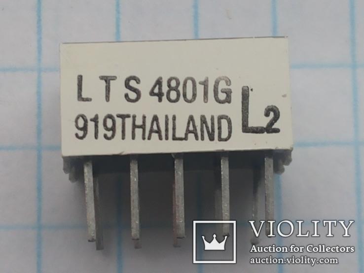 Индикатор 7-сегментный LTS 4801G зеленый 15 шт, фото №5