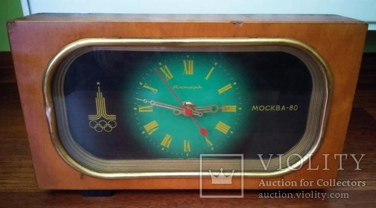 Часы янтарь Олимпиада Москва 80, фото №2