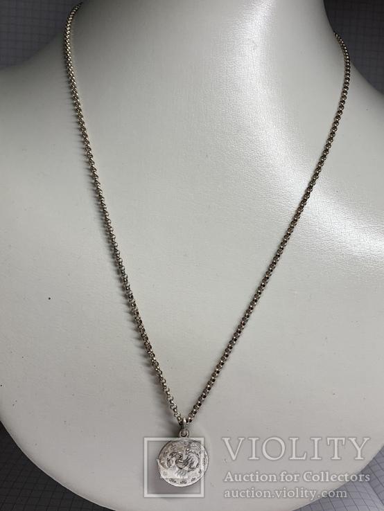 925 серебро Цепочка с кулоном в виде Скорпиона, фото №2