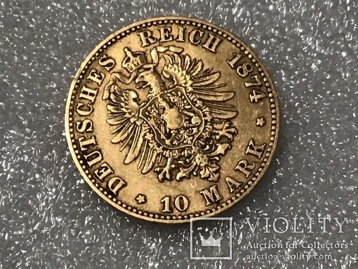 10 марок Карл Вюртембург Германия 1874, фото №6