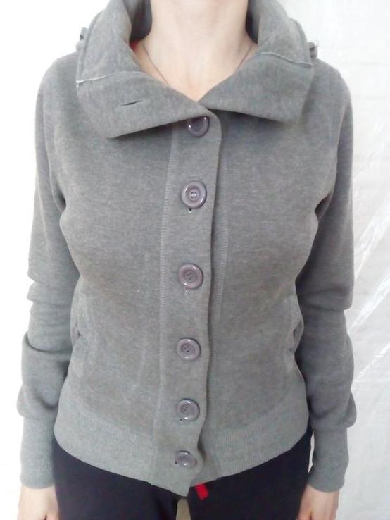 Утеплена спортивна жіноча кофта с капюшоном, фото №2