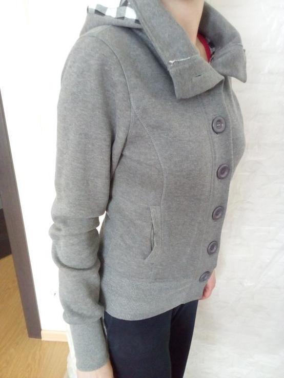 Утеплена спортивна жіноча кофта с капюшоном, фото №3