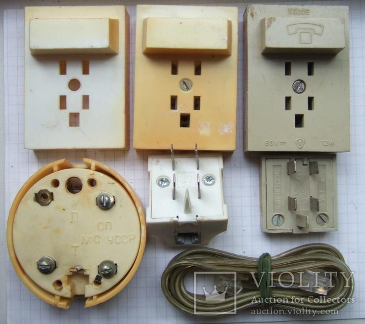 Телефонный блокиратор СССР и пара телефонных  розеток старого образца, фото №4