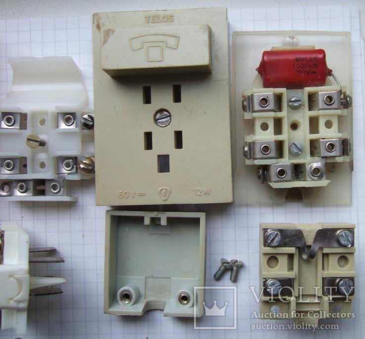 Телефонный блокиратор СССР и пара телефонных  розеток старого образца, фото №6