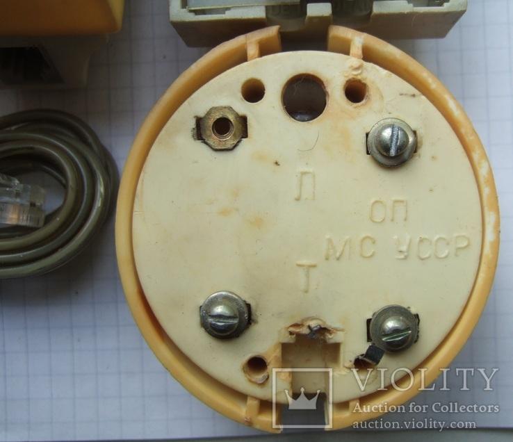 Телефонный блокиратор СССР и пара телефонных  розеток старого образца, фото №8