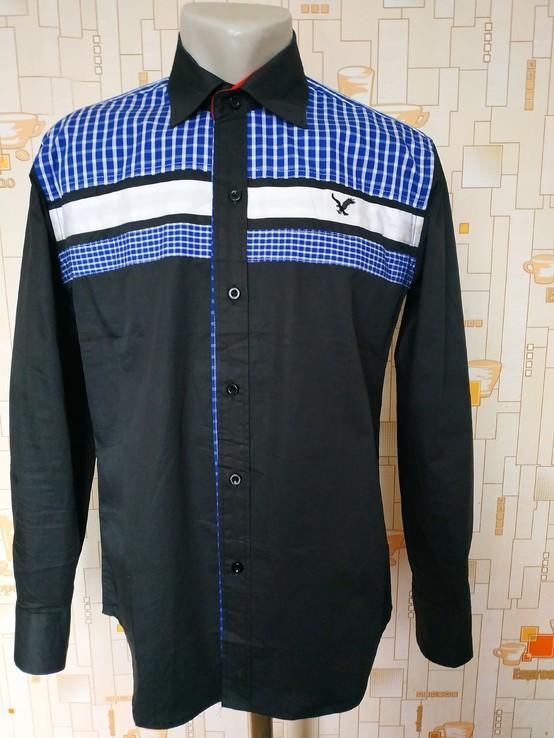 Рубашка черная HIERROWOLF коттон p-p L