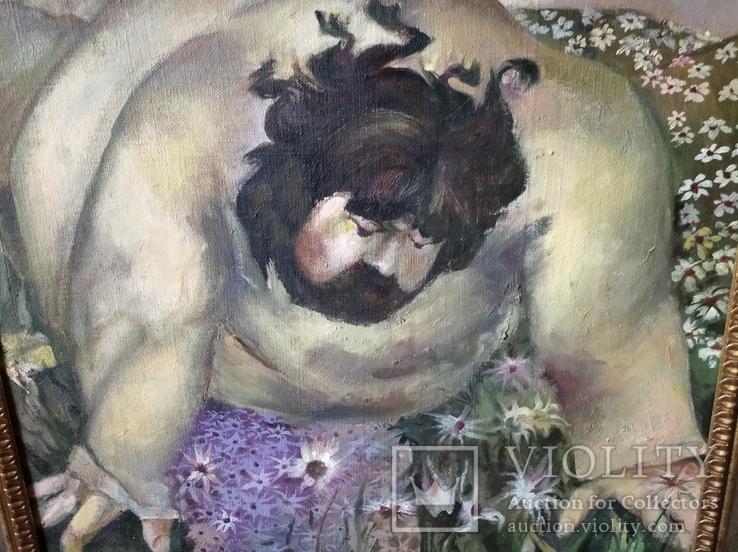 """""""Запах цветов"""" х/д/масло. 2002г. А.Г. Уваров.(1044-2015), фото №4"""