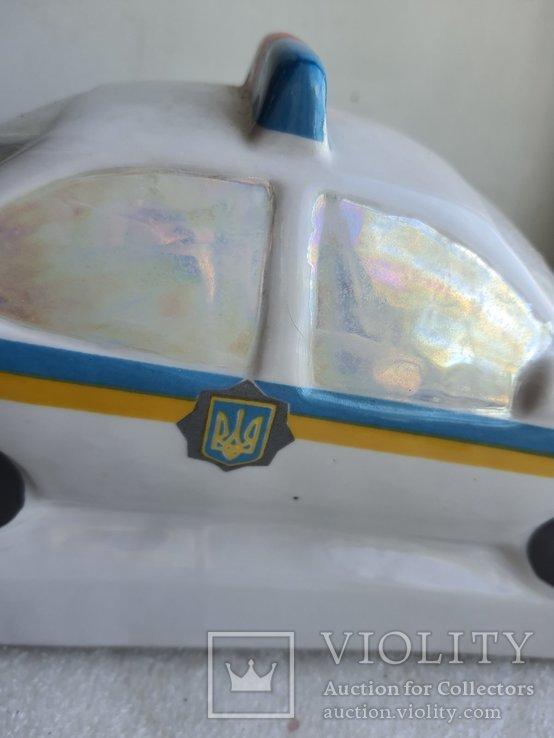 Статуэтка полицейская машина Державтоінспекція ДПС Украины Киевский фарфор, фото №8