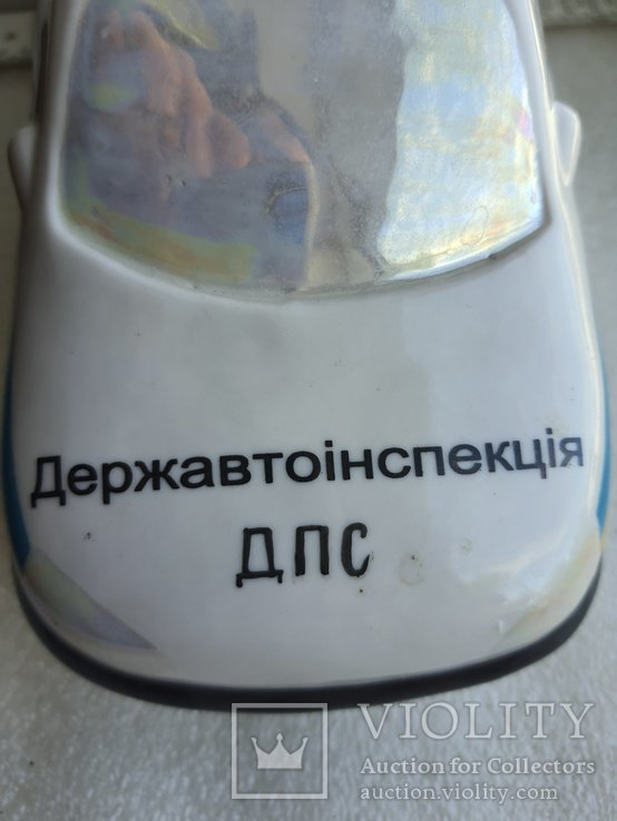 Статуэтка полицейская машина Державтоінспекція ДПС Украины Киевский фарфор, фото №12