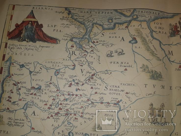 1570 Карта Московии и Татарии (19-20 век), фото №4