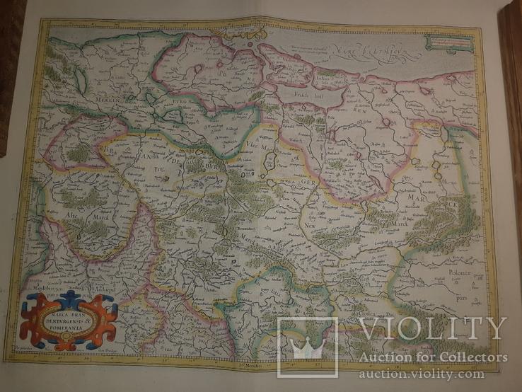 1619 Меркатор - Карта Бранденбурга и Померании