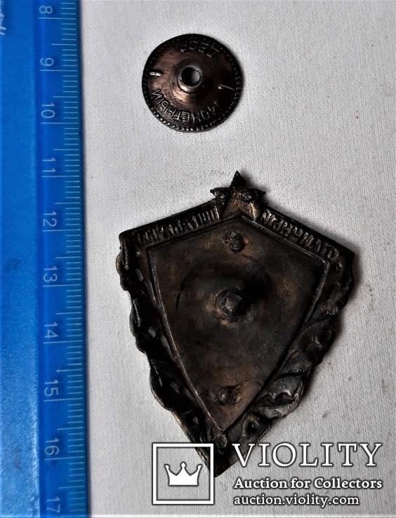 Знак Отличный пограничник МВД, копия, сборный на заклепках, фото №4