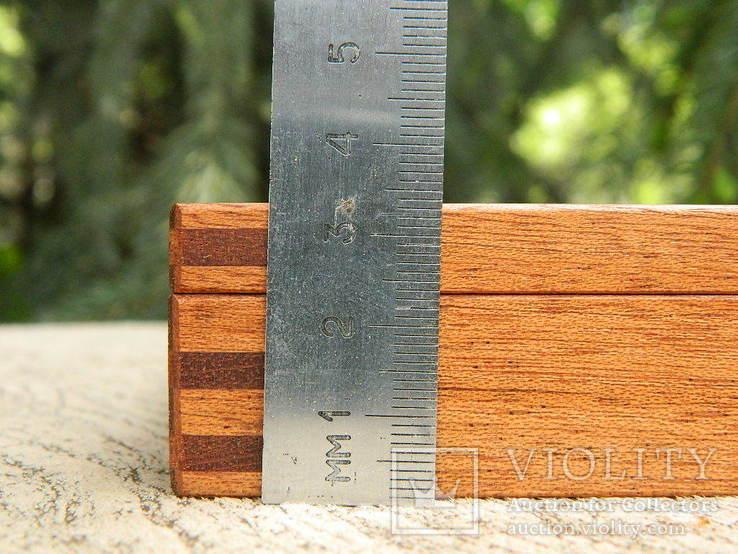 Мюнц-бокс.Червоне дерево.Ложементи d23/25/28mm.Для патинування/зберігання монет., фото №11