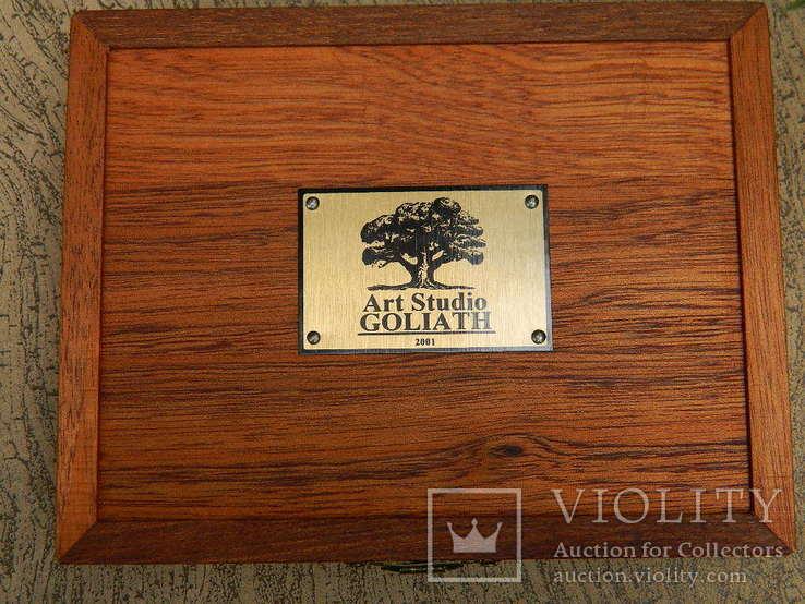 Мюнц-бокс.Червоне дерево.Ложементи d23/25/28mm.Для патинування/зберігання монет., фото №13