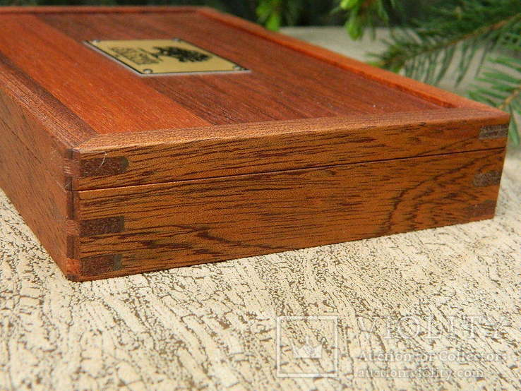 Мюнц-бокс.Червоне дерево.Ложементи d25-45mm.Для патинування/зберігання монет., фото №6